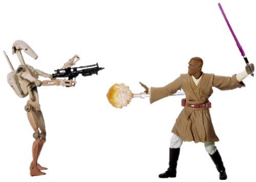 Star Wars: Episode 2 Deluxe Mace Windu with Battle Droid Action Figure