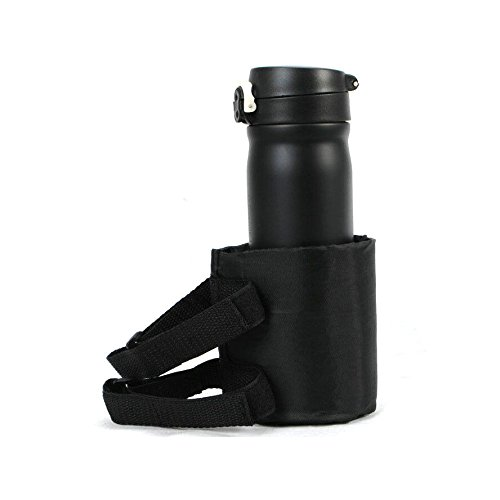 (UltaPlay Black Nylon Roll Bar Water Drink Cup Holder Bag + Strap For Jeep Wrangler CJ YJ TJ JK 2007-2016 Interior Car Styling Accessories)