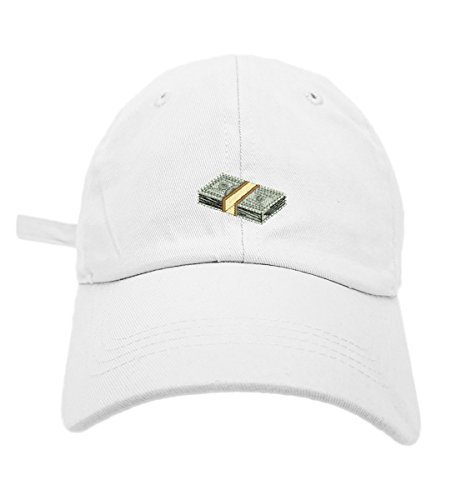TheMonsta Money Style Dad Hat Washed Cotton Polo Baseball Cap (White) by TheMonsta