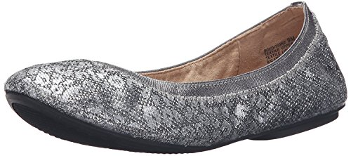 Glamour Ballet Flats - Bandolino Women's Edition Ballet Flat, Pewter Leopard Glamour, 6.5 M US