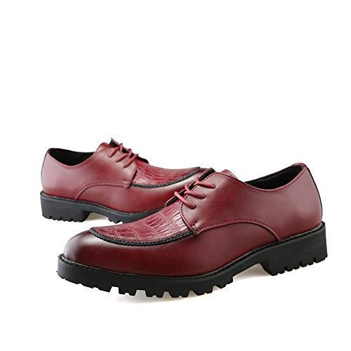 2018 basse con Rosso Colore Rosso tonda in unita Xujw lavoro uomo stringate Scarpe shoes sicurezza 42EU casual dimensione chiusura Scarpe tinta sul da x5WqzwIHAq
