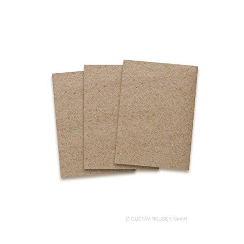 Kraftpapier-Karten in Braun | 100 Stück | Blanko Einladungs-Karten zum Selbstgestalten & Basteln | bedruckbare Post-Karten in DIN A6 Format | exklusive Grußkarten für besondere Anlässe