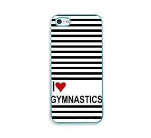 Love Heart Field Gymnastics Aqua Silicon Bumper iPhone 5 & 5S Case - Fits iPhone 5 & 5S