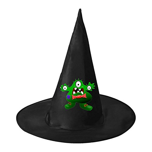 Green Monster DIY Unisex Halloween Toys Black Witch Hats Costume Party Cosplay Cap For Women Men Boys (Baby Monster Costume Diy)