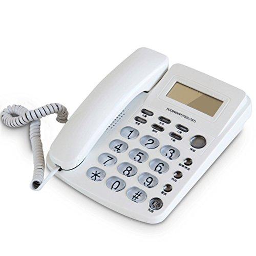 Line 2 Speakerphone Hotel (Corded Phone with Caller ID/Speakerphone Landline Phone/Buttons Alarm Clock)