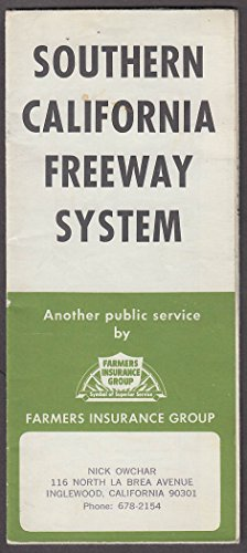Farmers Insurance Group Southern California Freeway System Map 1970