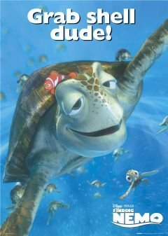 finding nemo grab shell dude large movie film poster 61 by 91 5cm