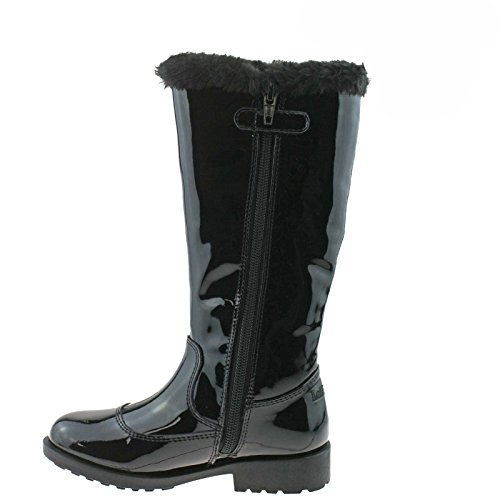 Lelli Kelly LK3698 (DB01) Frances Nero Vernice fur Lined Boots -26 (UK 8)