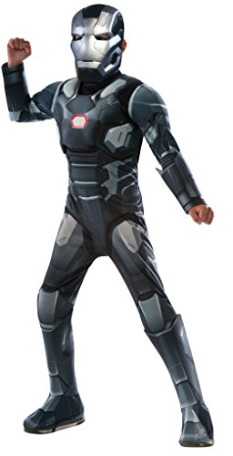 [Rubie's Costume Captain America: Civil War - War Machine Deluxe Muscle Chest Child Costume, Medium] (Black Panther Costume Marvel)
