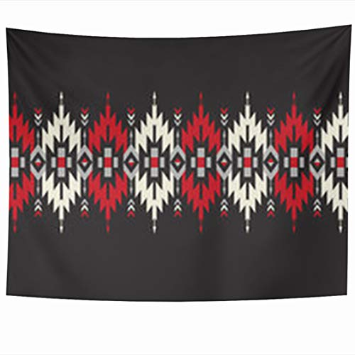 - Alfredon Wall Tapestry Hanging, 80 x 60 Inches Pattern Tribal Geometric Border Indian Abstract Aztec Mexican Peruvian Tapestries, Decor for Home Bedroom Living Room Dorm