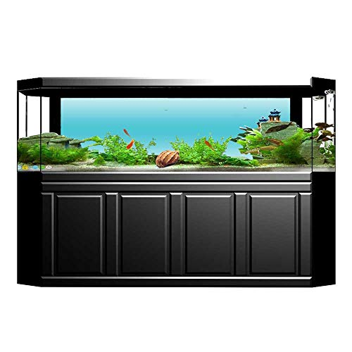 - Jiahong Pan Background Fish Tank Sticker Tropical Cove Aquatic Design Printed Art Print Aquarium Sticker Wallpaper Decoration L23.6 x H15.7