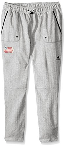 Revolution Jogger - adidas MLS New England Revolution Ultimate Worn French Terry Jogger Pants, Large, Medium Grey
