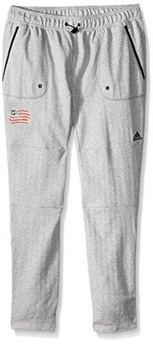 adidas MLS New England Revolution Ultimate Worn French Terry Jogger Pants, Large, Medium Grey ()