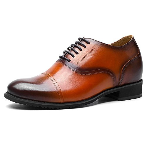 CHAMARIPA Height Increasing Elevator Shoes 2.56'' Taller Men Oxford Dress Shoes 252H11-1 US 11 by CHAMARIPA