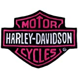 Harley Davidson Bar & Shield Plush Rug-Pink