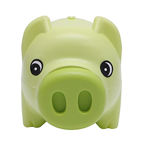 (Tangc Plastic Piggy Bank Coin Money Cash Collectible Saving Box Pig Toy Kids Gift)