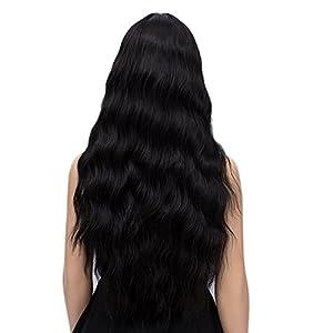 netgo Ash Blonde Wig for Women Long Wavy Heat Resistant Fiber Wigs Side Bangs Cosplay Party