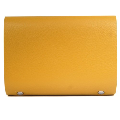 Unisex Case Credit Color Leather Veroda ID Yellow Holder Wallets Card Yellow Soft Business Purse Premium wFqTPz