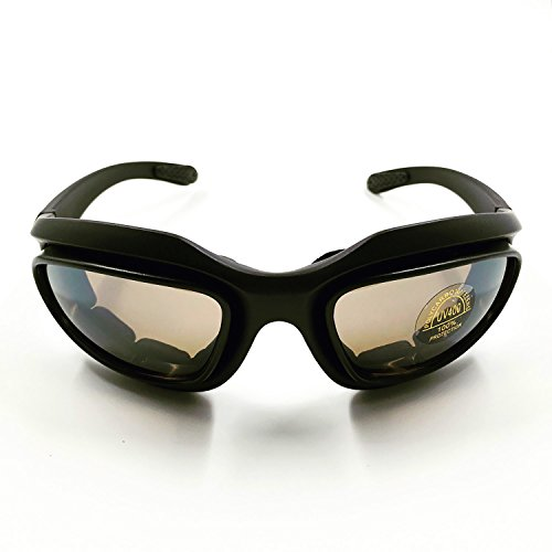 Motorcycle Riding Glasses, Outdoor sunglasses, Protective Goggles for Day/Night/Dawn-Smoke