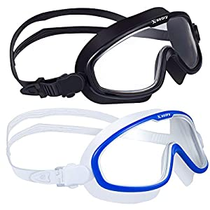 Well-Being-Matters 41KWbjqMReL._SS300_ 2 Pack Anti-Fog Swim Goggles for Adult Men Women Youth with Soft Silicone Gasket