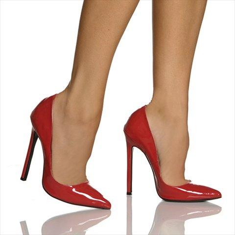 The Highest Heel Women's Hottie Stiletto,Red Patent,8 M (Highest Heel Hottie)