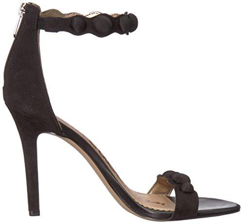 Edelman Black Sandales Sam Addison Noir Compensées Femme x6Y11w