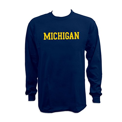 Michigan Wolverines Clothing (Michigan Wolverines Basic Block Long Sleeve T-Shirt - Small -)