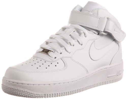 (Nike Air Force 1 Mid 07 White/White Mens Fashion Sneakers 315123-111 (8.5 M))