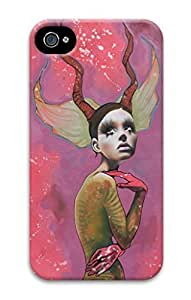 3D PC Back Case Cover for Iphone 5/5S Hard Shell Skin for Iphone 5/5S with Deer Girl