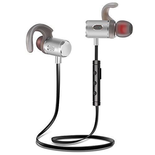 Fozento FT3 V4.2 Cuffie Bluetooth, Auricolare Magnetiche Wireless con Design di Resistente al Sudore, Auricolari Bluetooth Wireless per Migliore qualità del suono e durata della batteria, Che Permette 6 Ore di Riproduzione Senza Interferenza e cancellazione rumore.