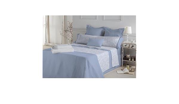 Don Algodón.- Juego de sábanas Jade color Azul para cama de 180 ...