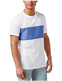 Mens Colorblocked Quilted T-Shirt