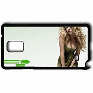 Personalized Samsung Note 4 Cell phone Case/Cover Skin Amber Heard Black