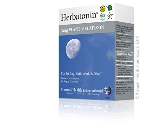 UPC 893814001031, Herbatonin® 3mg Plant Melatonin 60 Capsules for Jet Lag, Shift Work and Sleep