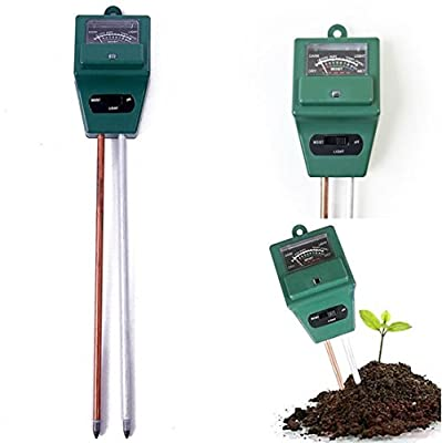 1 Pc Crucial Popular 3in1 pH Soil Tester Hydroponics Analyzer Sensitive Check Garden Test Tool Color Green