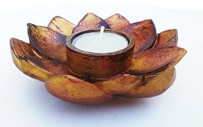 Lotus Incense Cone Burner Votive T-light Candle Holder Meditation Flower Buddha