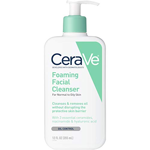 CeraVe Foaming Facial Cleanser, 12 Ounce Pack of 3