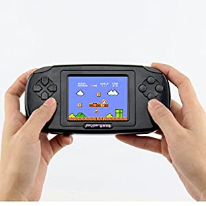 "Handheld Game Console , Game Console 2.8"" 168 Games LCD PVP Game Player Classic Game Console,Good Gifts For Children,For Kids to Adult. (Black)"