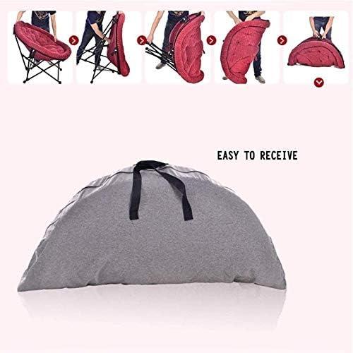 Terrasse chaise longue chaise longue chaise pliante chaise déjeuner chaise paresseuse dossier dossier chaise ronde en velours côtelé portable 7 couleurs chaise longue