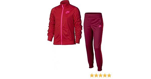 Nike G NSW TRK Suit Tricot Chándal, Niñas, Rojo (University Red ...