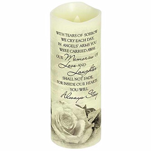Carson Home Accent Candle - Flameless - Premier Flicker - Angels Arms w/Timer - Vanilla (8