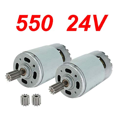 2 Pcs Universal 550 30000RPM Electric Motor RS550 24V Motor Drive Engine Accessories for Kids Electric Cars Children Ride On Car Replacement Parts