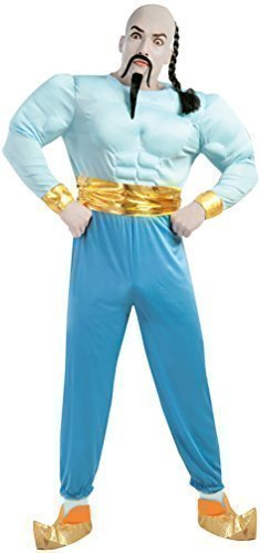 Mens Blue Arabian Genie Book Day Film Halloween Fancy Dress Costume Outfit Size Large]()
