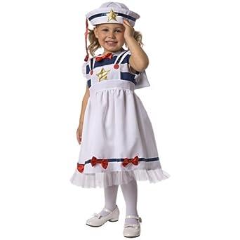 Sweet Sailor Child Costume Size 3-4 Toddler  sc 1 st  Amazon.com & Amazon.com: Sweet Sailor Child Costume Size 3-4 Toddler: Clothing