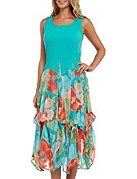 Kaktus Women's Convertible Floral Spring Maxi Dress - Plus Size Available