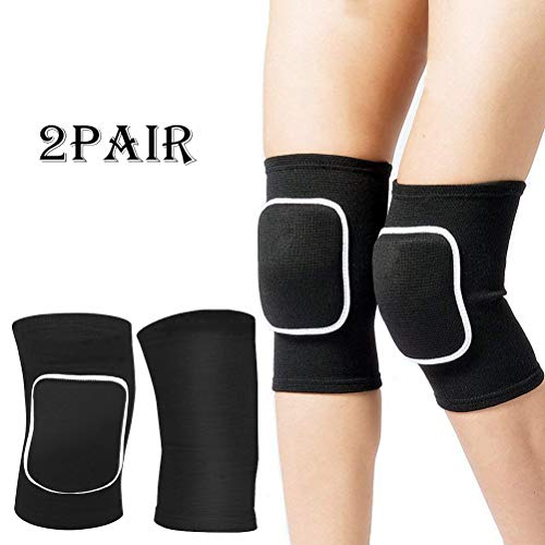 Haploon-2-Pairs-Sports-Knee-Pads-Anti-Collision-Knee-Braces-for-Volleyball-Basketball-Football-Dance-Skating-Sports-Power-Knee-Stabilizer-Pads-for-Kids-and-Adult