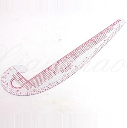 RZDEAL Regla de costura 3 en 1, sistema métrico, curva francesa, plástico para sastrería y patrones: Amazon.es: Hogar