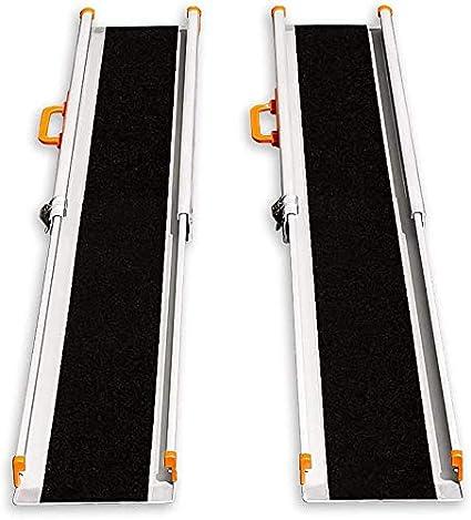 LIEKUMM - Rampa de carga antideslizante, portátil, portátil, portátil, para escaleras, obstáculos, riel de carga plegable (MR207N-8) (240 x 21 x 5 cm)