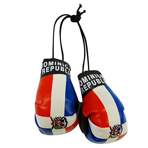 (Dominican Republic Country Flag Mini Boxing Gloves..New)