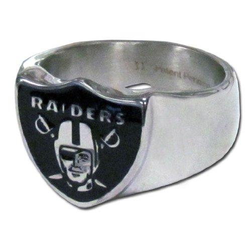 NFL Oakland Raiders Steel Bottle Opener, Ring Size 10